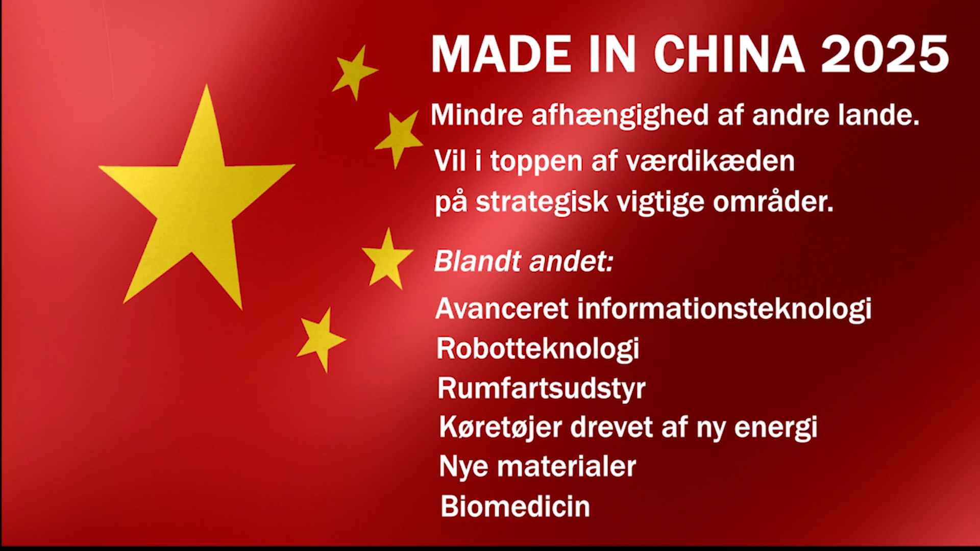 China's goals of becoming the world leader in a wide range of technologically important areas frighten the West.